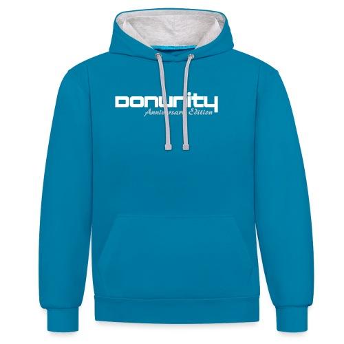 DonUnity Anniversary II png - Kontrast-Hoodie
