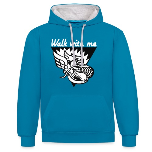 WALK WITH ME - Contrast Colour Hoodie
