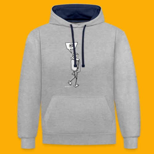 Dat Robot: Nerd Flirt Woman - Contrast hoodie