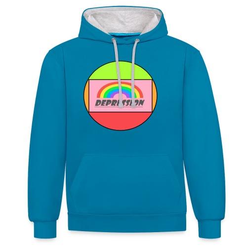 Depressed design - Contrast Colour Hoodie