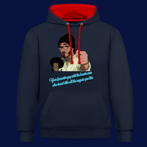 Your Favourite Beanie Man - Contrast Colour Hoodie