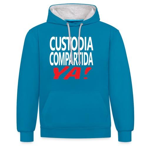 Custodia Compartida YA - Sudadera con capucha en contraste