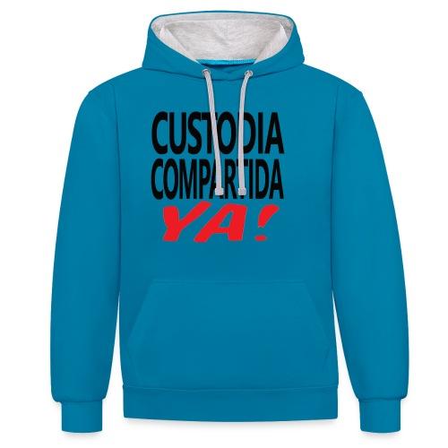 Custodia Compartida YA Negro - Sudadera con capucha en contraste