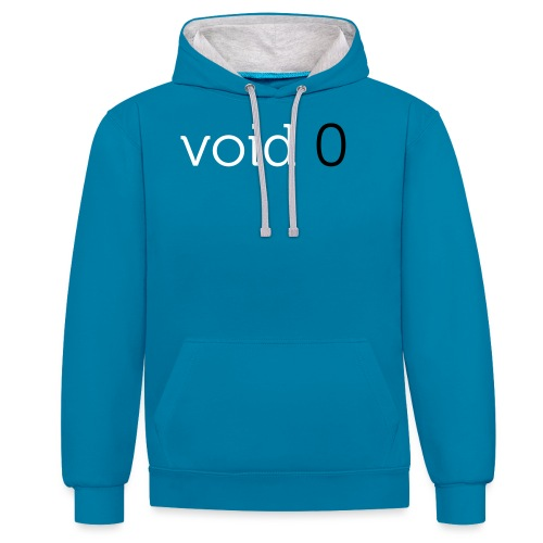 Coders Choice: void 0 Tank Top (male) - Contrast Colour Hoodie