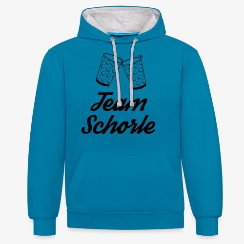 Team Schorle - Kontrast-Hoodie
