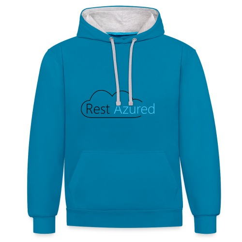 Rest Azured # 1 - Contrast Colour Hoodie