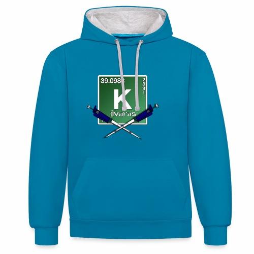 Kilva Logo - Felpa con cappuccio bicromatica
