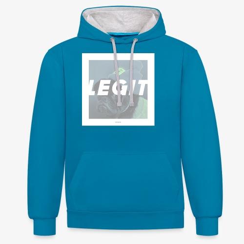 LEGIT #04 - Kontrast-Hoodie