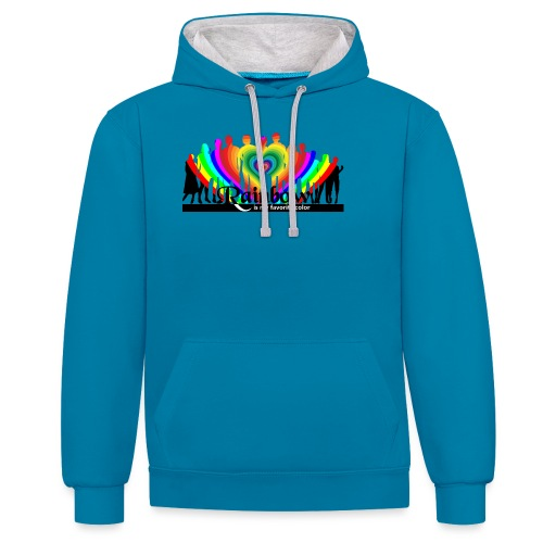 rainbow is my favorite color - Kontrast-Hoodie
