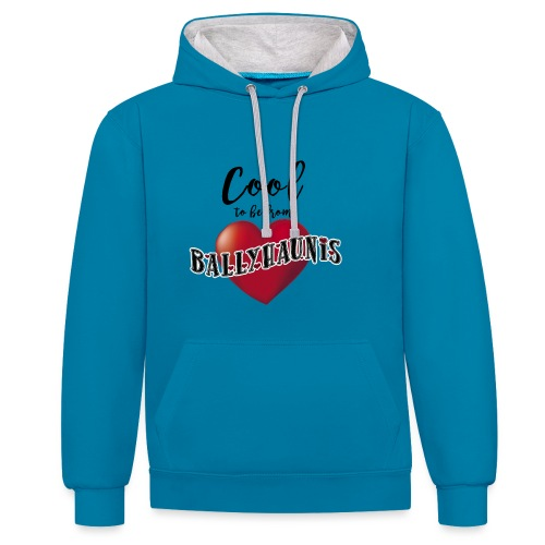 Ballyhaunis tshirt Recovered - Contrast Colour Hoodie