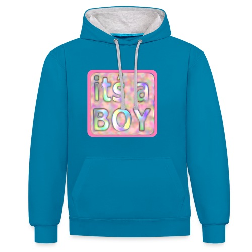 its a boy rosa text skylt - Contrast Colour Hoodie