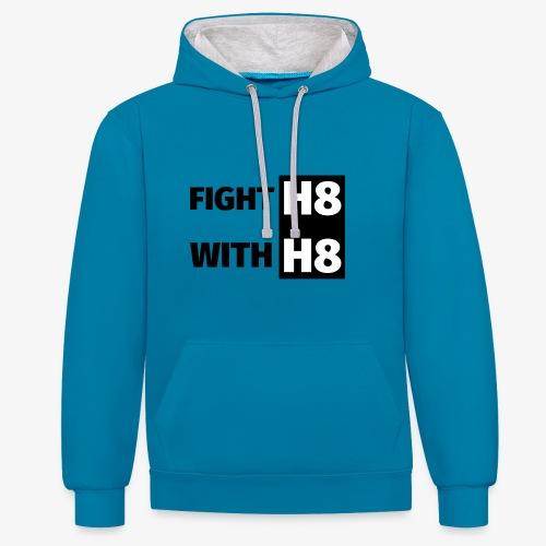 FIGHTH8 dark - Contrast Colour Hoodie
