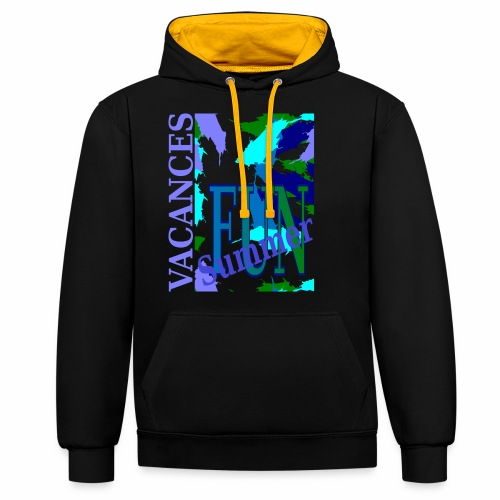 Vacances Summer Fun - Contrast Colour Hoodie