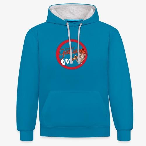 Dampf Guru Logo - Kontrast-Hoodie