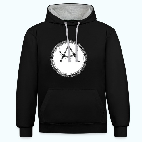Mystic motif with sun and circle geometric - Contrast Colour Hoodie