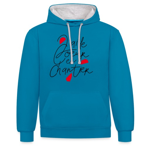 coeur en chantier - Sweat-shirt contraste