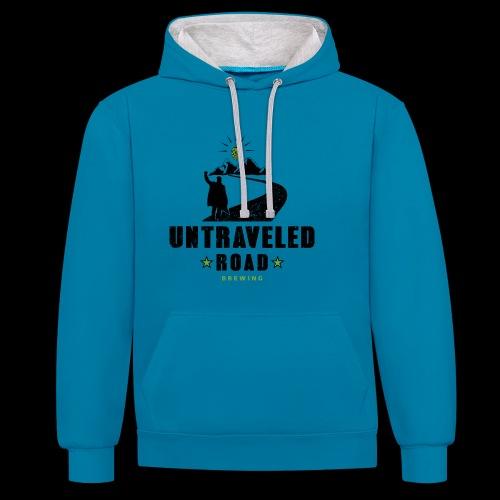 Untraveled Road Logo - black/small - Kontrast-Hoodie