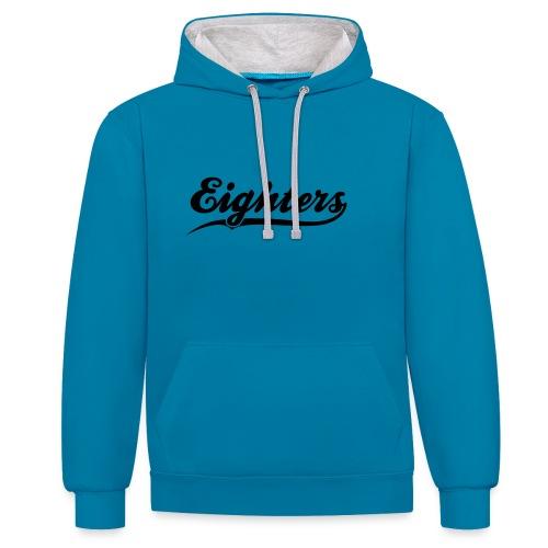 Eighters Logo - Kontrast-Hoodie