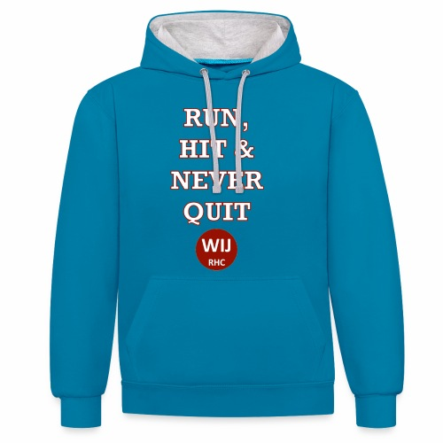 Run Hit never Quit - Contrast hoodie