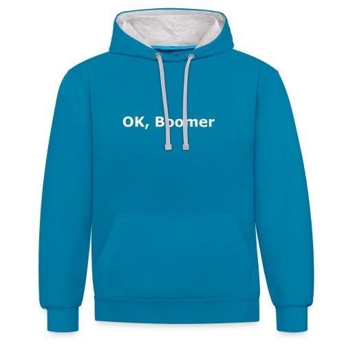 OK, Boomer - Kontrast-Hoodie