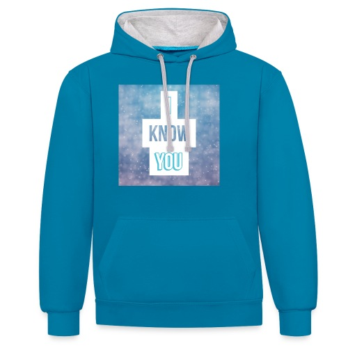 I_Know_You Logo - Kontrast-Hoodie