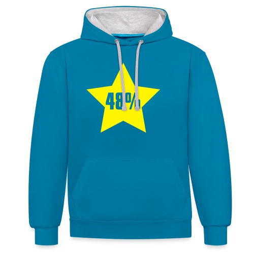 48% in Star - Contrast Colour Hoodie