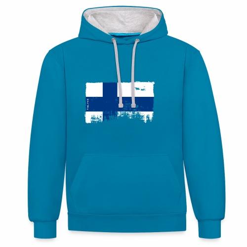 Suomen lippu, Finnish flag T-shirts 151 Products - Kontrastihuppari