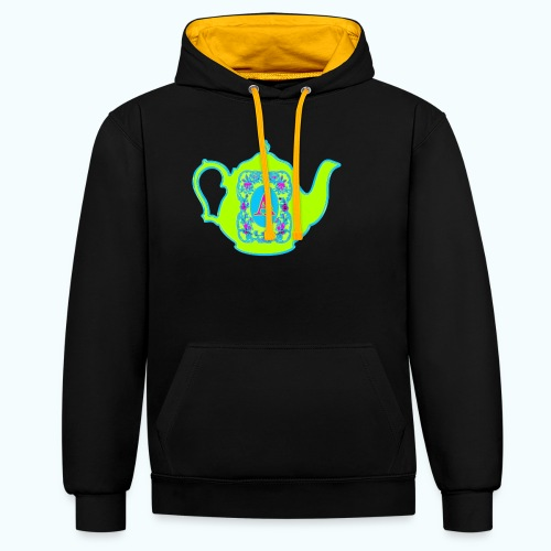 Wonders & Madness Tea Party - Contrast Colour Hoodie
