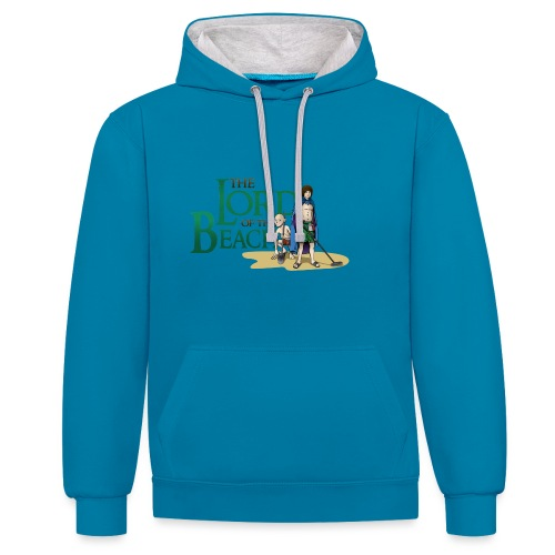 The Lord of the Beach - Sudadera con capucha en contraste