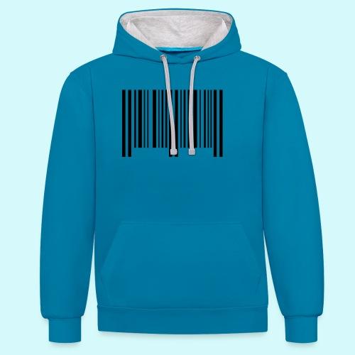 barcode - schwarz - Kontrast-Hoodie