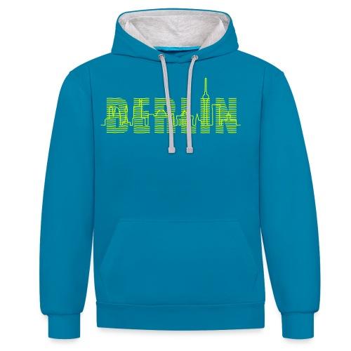 Skyline Berlin - Kontrast-Hoodie