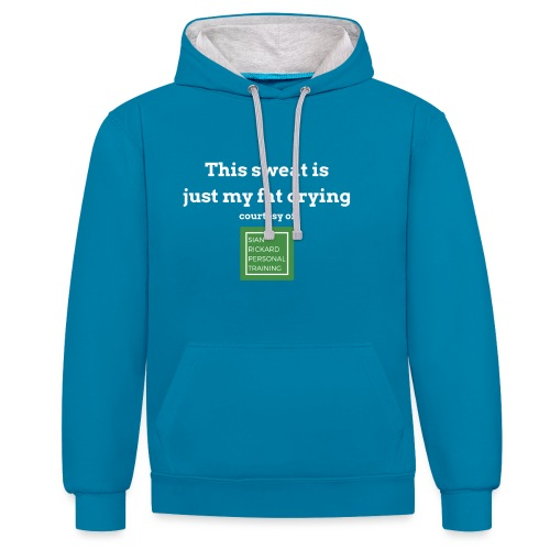 SRPT Fat Crying - Contrast Colour Hoodie
