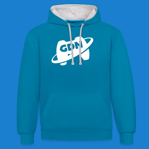Game Dev Network: White - Contrast Colour Hoodie