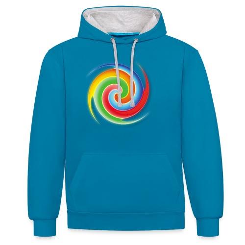 deisold rainbow Spiral - Kontrast-Hoodie