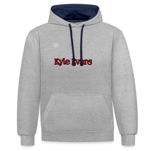 KYLE EVANS TEXT T-SHIRT - Contrast Colour Hoodie