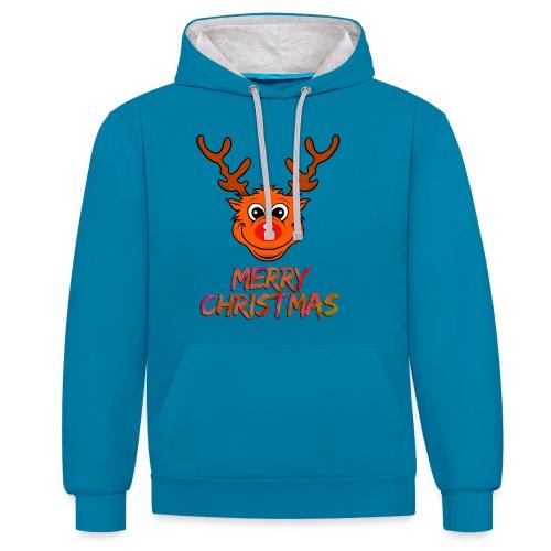 Rudolph - Kontrast-Hoodie