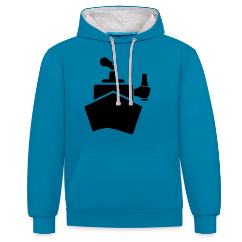 King of the boat - Kontrast-Hoodie