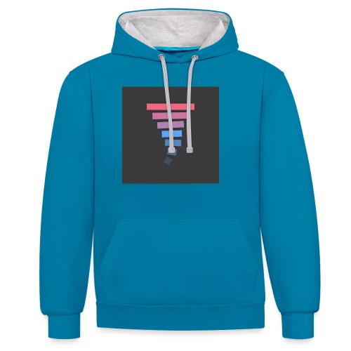 Material Lollipop Design (MKBHD) - Contrast Colour Hoodie