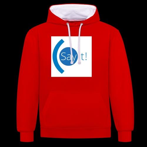 Sayit! - Contrast Colour Hoodie