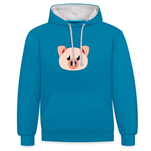 Schweinchen »Oink Oink« - Contrast Colour Hoodie