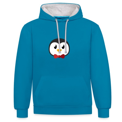 Pinguin »Ping« - Contrast Colour Hoodie