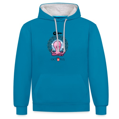 octopus meditation - Contrast Colour Hoodie