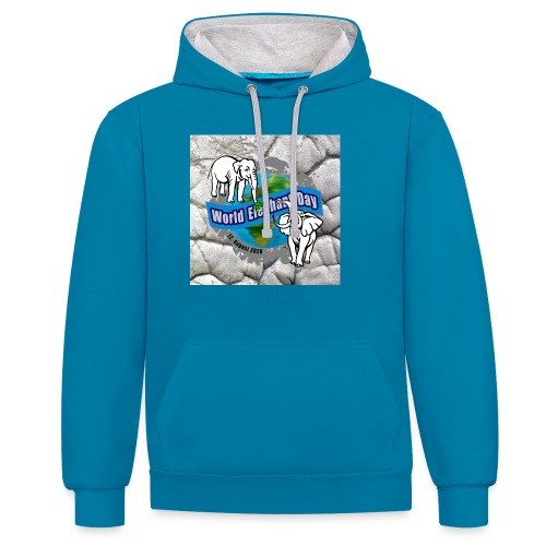 World Elephant Day 2020 - Kontrast-Hoodie