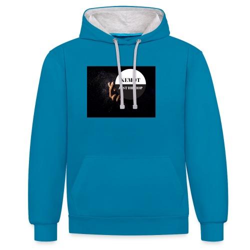 KeMoT odzież limitowana edycja - Bluza z kapturem z kontrastowymi elementami