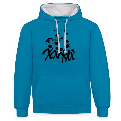 BEGRADUATED - Contrast hoodie