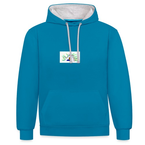 Project Drawing 1 197875703 - Contrast Colour Hoodie
