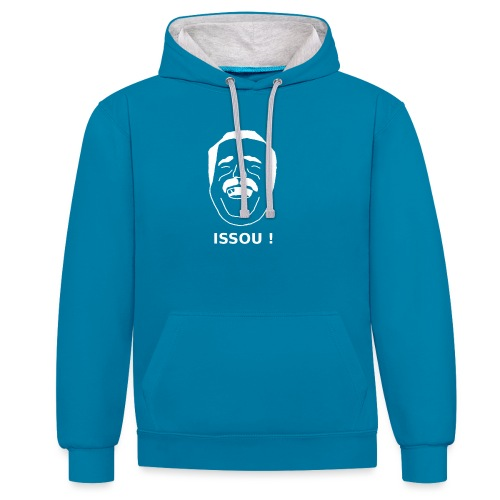 issou blanc - Sweat-shirt contraste