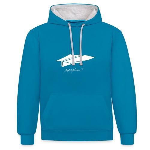 Paper Planes Blueprint - Contrast hoodie
