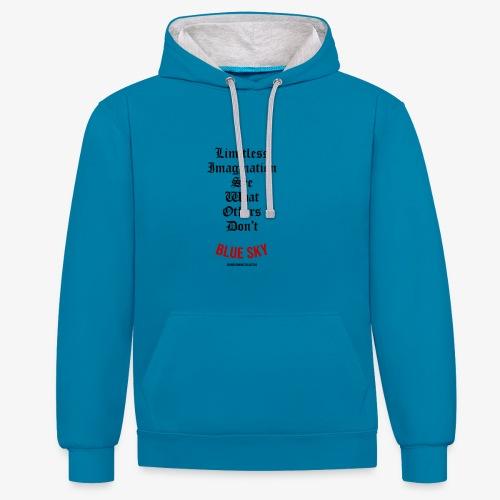 Limitless Imagination Zwart - Contrast hoodie