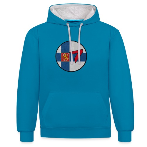 5 - Contrast Colour Hoodie